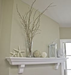 Love the wall color with the crisp white trim. Idea for the living room at Heathpoint