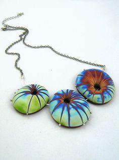 Starry stones - polymer clay and sterling siilver http://en.dawanda.com/shop/gRiSbLEu