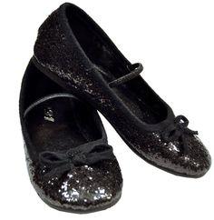 c59c7e335ee4e8 Flat Ballet Glitter Ch Bk Xlge