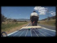 Bicycling Touring with a trailer and solar panels for power and a fridge...