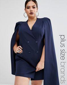 Lavish Alice Plus Split Back Cape Dress