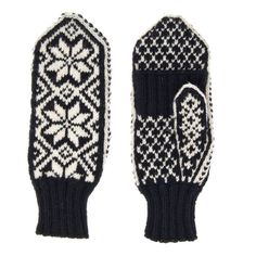 Black & White Gloves with cover for finger in traditional Norwegian design Winter Mittens Texting Gloves Woollen Gloves Woollen Mittens Crochet Gloves, Knit Mittens, Black And White Gloves, Texting Gloves, On The High Street, Christmas 2016, Hand Knitting, Finger, Make It Yourself