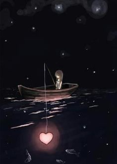 Items similar to Fishing for Love, there are plenty of other fish in the sea – 8 x 10 Matte Art Print on Etsy Angeln für die Liebe, es gibt viele andere Fische im Meer. Love Wallpaper, Wallpaper Backgrounds, Moon Art, Anime Art Girl, Heart Art, Cute Wallpapers, Cute Art, Amazing Art, Fantasy Art