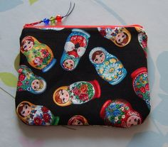 Matryoshka russian doll make up pouch