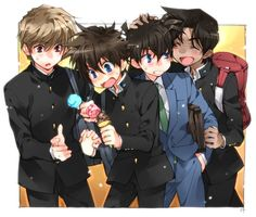Detective Conan Shinichi And Heiji Detective conan kaito kid vs