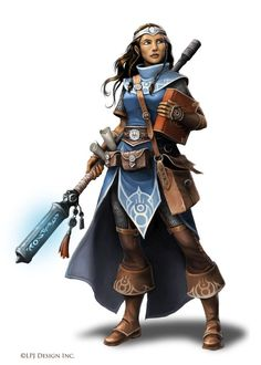 Since it's cold all the time, the characters probably dress like this- Cleric of Kaga by WillOBrien on DeviantArt