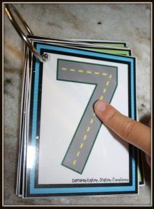 Transportation themed tracing mats. Drive to learn numeral and letter formation.