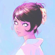 Kuvshinov Ilya is creating Illustrations and Comics Art Anime Fille, Anime Art Girl, Anime Girls, Art Mignon, Art Manga, Art Et Illustration, Animes Wallpapers, Cartoon Art, Female Art