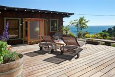 Lounging on your sundeck staring at the Pacific Ocean