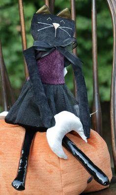 Purple Herringbone Cat with Moon Door Hanger, by Woof and Poof.