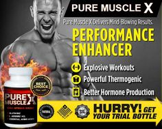 Pure Muscle X Review – Effective Performance Enhancer For Men! #MensHealthOnline #TestosteroneBooster #Supplement #BetterHormoneProduction #Review2016