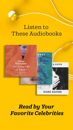 We recommend these audiobooks narrated by your favorite celebrities, such as Tom Hahnks, Ali Wong, Jim Carrey, Benedict Cumberbatch, Meryl Streep and more. These audiobooks are perfect to listen to on a roadtrip! Reading Lists, Book Lists, Ali Wong, Benjamin Bratt, Bobby Cannavale, Celebrities Reading, Elena Ferrante, Laura Linney, Jennifer Beals