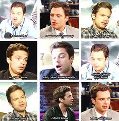 Sebastian Stan + The Winter Soldier interviews: a summary.