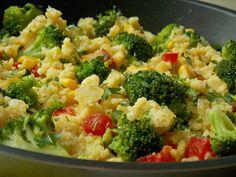 Kasza jaglana z brokułem – KuchniaMniam Broccoli, Healthy Recipes, Healthy Food, Gluten Free, Yummy Food, Vegetables, Fitness, Kitchen, Diet