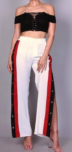 BUTTON SIDE TRACK PANT