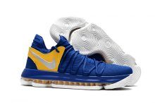"""b0049af0514c Nike KD 10 """"Golden State Warriors"""" Blue Yellow-White For Sale"""
