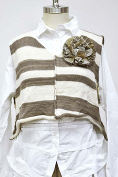 Striped Super Cropped Vest