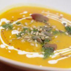 dýňovo-cizrnová polévka