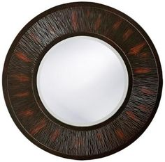 Round Wood Mirror.  I like the colors in the frame