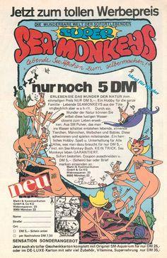Die inzwischen kultige Sea-Monkey-Werbung aus den 80ern