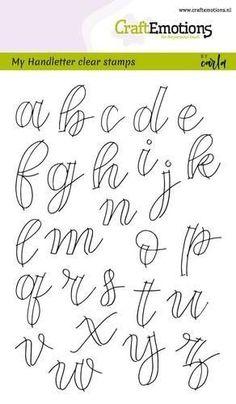 Handlettering Alphabet Faux Calligraphy