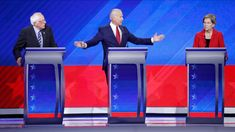 ABC News Democratic Debate Broadcast Set Design Gallery George Stephanopoulos, Democratic Party, Democratic Primary, Tv Set Design, Up To Something, Front Runner, Digital Tv, Could Play
