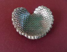 Coppery Smokey Lilac Heart Trinket Dish by PaintedbyFire on Etsy, $10.00