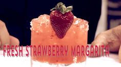 The Savory, teaches you how to make a delicious strawberry margarita.