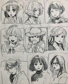 Sketchbook Drawings, Art Drawings Sketches Simple, Cute Drawings, Drawing Tips, Cartoon Art Styles, Cute Art Styles, Anime Sketch, Art Reference Poses, Art Portfolio