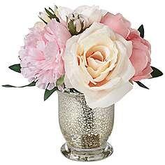 Unique Silk Peonies In Vase