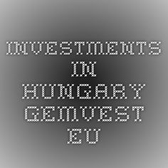 investments in Hungary gemvest.eu Hungary, Tech Companies, Investing, Company Logo, Real Estate, Self, Real Estates