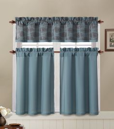 New Dark Purple Kitchen Curtains