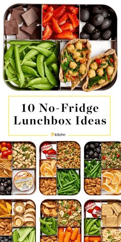 10 Easy Lunches That Don't Need to Be Refrigerated Easy, Healthy No Refrigeration Needed Lunch Ideas. Need recipes for lunches and meals you can try [. Lunch Snacks, Clean Eating Snacks, Bento Lunch Ideas, Picnic Lunch Ideas, Lunch Ideas For Camping, Food For Lunch, Veggie Lunch Ideas, Snacks Kids, Eating Habits