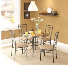 Acme Furniture Darell 5 Piece Round Dining Table Set