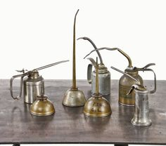 nice assortment of old industrial tin and polished steel
