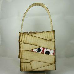 Stampin' Up!  Fancy Favor Box  Dana Newsom  Halloween Mummy