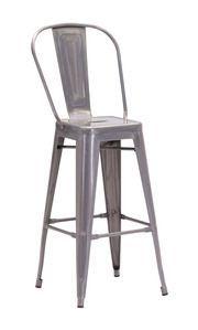 Zuo Modern Elio Bar Chair Gunmetal