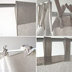 Linen curtain panel Custom top and color Window treatment  by Lovely Home Idea