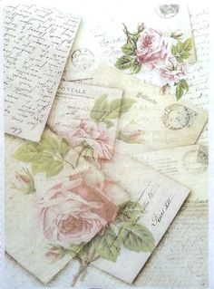 Rice Decoupage Paper / Decoupage Sheets  / Scrapbooking / Vintage post cards