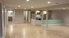in home daycare space in custom designed finished basement.