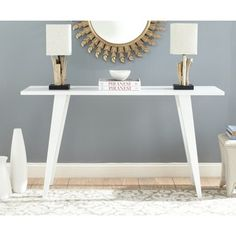 Shop for Safavieh Manny White Lacquer Console Table. Get free shipping at Overstock.com - Your Online Furniture Outlet Store! Get…