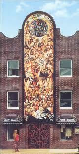 Mural by Robert Lenkiewicz. A fabulous mural that needs to be seen to be enjoyed at its best, and the product of a great artist and fertile mind!
