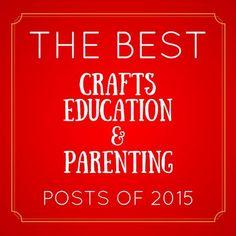 Top posts of 2015 - roundup of activitiesfrom  kid bloggers - Preschool Toolkit
