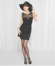 Betsey Johnson's Spring Collection...needs  to be in Betsy Petersen's 'Little Black Dress' Collection...with the hat, of course
