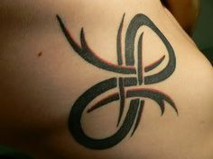 """""""Infinity""""- names of my siblings intertwine in the symbol. Possibly behind my neck."""