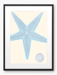 Starfish Print  Sea Star  Marine Wall Decor  Seaside by Digartized, $12.00