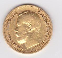 Rusko-zlatý 5 RUBL 1900 Mikuláš II - rarita