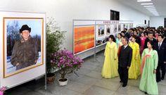 위대한 령도자 김정일동지의 탄생 75돐경축 중앙사진전람회 개막