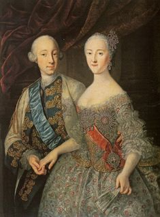 Peter III and Catherine II by Groоth Russian museum) - Pedro III de Rusia - Wikipedia, la enciclopedia libre Peter The Great, Catherine The Great, Pictures Of Russia, The Great Clothing, Catalina La Grande, Adele, Grand Duc, European Dress, Russia Ukraine