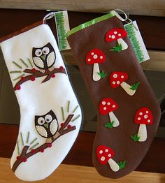 """C"" is for Crafty: Felt Christmas Stockings"